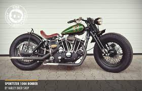 sportster 1000 ironhead bobber built by harley bikers shop of