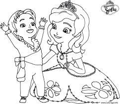 Coloriage Princesse Sofia Disney Avec Un Enfant Dessin