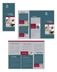 mortgage flyer template mortgage lenders tri fold brochure template