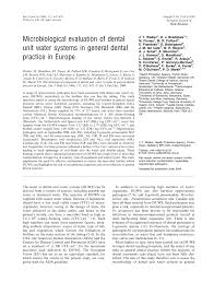 Dental Designs Of White Marsh Pdf Microbiological Evaluation Of Dental Unit Water Systems
