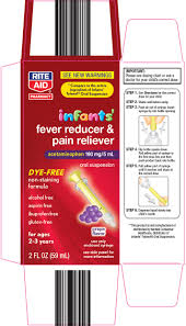 Aspirin Dosage Chart Child Infants Fever Reducer And Pain Reliever Suspension Rite