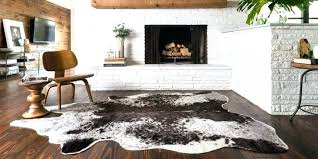 raw hide rug rugs rawhide faux home design ideas and cowhide review buffalo for decor raw hide rug