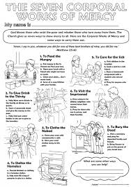 works of mercy worksheet collection of worksheet for corporal works of mercy adriaticatoursrl