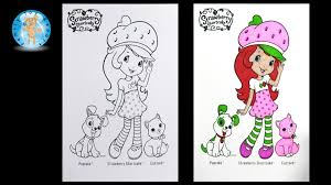 strawberry shortcake coloring pages custard cat pupcake dog how to color family toy report you