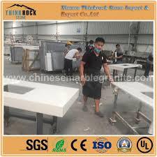 china popular thicken galaxy pure white quartz kitchen countertops factory china whole products thinkrock stone