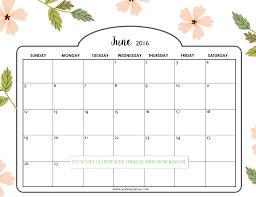 Pretty Printable Calendars For June