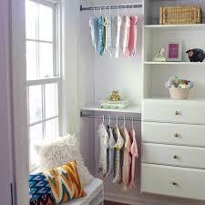 nursery closet makeover using martha stewart closet organization system