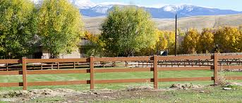 wooden farm fence. Country Yard Fences | Vinyl Horse Fence Ranch Farm Wooden