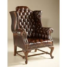 future maitland smith napoleon brown finished occasional chair tufted old attic leather upholstery