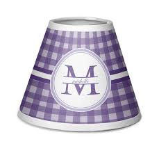 gingham print chandelier lamp shade personalized