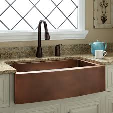 33 kiana curved front copper farmhouse sink