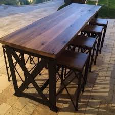 table bar height chairs diy: image of diy outdoor bar table and chairs