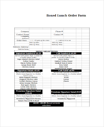 Catering Spreadsheet Template Excel Order Form Template 19 Free ...