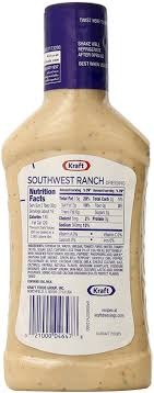 kraft southwest ranch dressing 15 8 ounce amazon ca grocery gourmet food