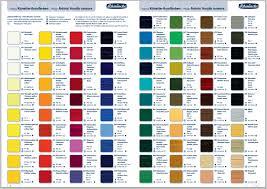 45 Abundant Oil Paints Colour Chart