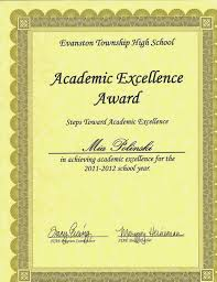 awards achievements mia fitzgerald polinski elite physical fitness award evanston township high school junior year