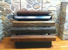 rustic barn beam fireplace mantel natural wood mantels iq