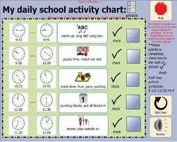Daily School Activity Chart