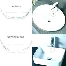 pop up sink drain no overflow bathroom without with