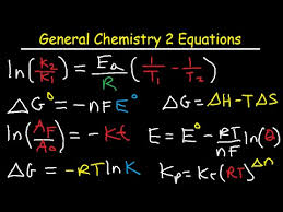 Important Chemistry Formula Chart General Chemistry Formula Sheet And List Of Equations Part 2 Mcat Dat Pcat