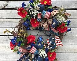 patriotic wreaths for front doorUsa wreath  Etsy
