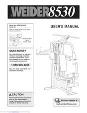 Weider 8530 Weight Chart Weider 8530 User Manual Pdf Download