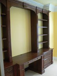 home office wall unit. Architecture: Hand Made Traditional Mahogany Wall Unit Home Office Desk With Units