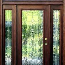 exterior wood doors with glass no en
