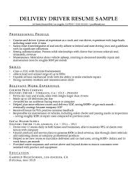 Sample Resume For Delivery Driver Delivery Driver Resume Sample
