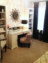 cool home office ideas mixed. Black Tone Executive Desk And Upholstered Chair Mixed White Rustic. Room Design Ideas. Bathroom Cool Home Office Ideas