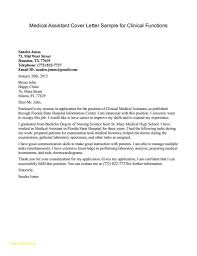 Medical Assistant Cover Letter Examples With No Experience Fresh