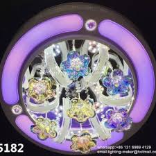 hot crystal chandelier crystal ceiling led lamps with remote control bluetooth