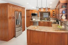 Mail Order Cabinets Charleston Cherry Saddle And Antique White Kitchen Cabinets We