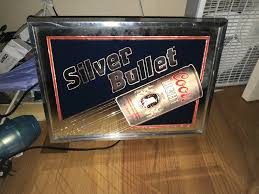 Coors Light Light Up Sign Vintage 80s Silver Bullet Coors Light Man Cave Light Up