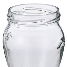 ... Glass Honey Pot Jars with Lug Cap - close up of embellishments ...