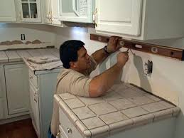 Diy Kitchen Counters Install Tile Over Laminate Countertop And Backsplash How Tos Diy