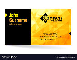 Company Backdrop Design Business Card Bright Design With Yellow Background