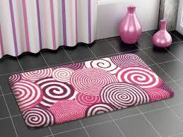 modern stylish designer colorful bath mat