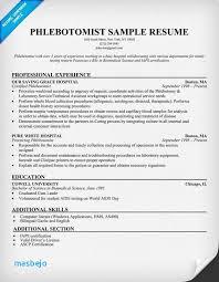 Phlebotomy Resume Examples Unique Phlebotomy Resume Sample Entry Level Phlebotomy Resume Examples