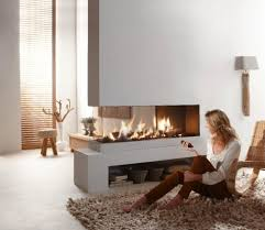 Contemporary Dual Aspect Fireplace