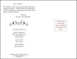 printable program templates free printable wedding programs templates bookfold program