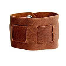 rustic interwoven men s women s brown leather cuff