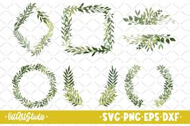 Freesvg.org offers free vector images in svg format with creative commons 0 license (public domain). 6 Green Leaf Wreaths Svg Round Frame Svg 557030 Illustrations Design Bundles