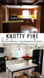 Update Kitchen Remodelaholic Kitchen Renovation Updating Knotty Pine Cabinets