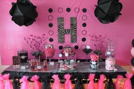 Pink And Black Birthday Party Decorations - Beautiful Pink Decoration