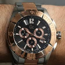 guess gc 1 brown leather timepiece guess 499 00 men s watches gc stands for guess collection but they aren t the only timepieces the guess brand on them we look at a men s gc watch the sport class