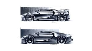 Painted blue to match bugatti's signature color that was inspired by the 1937 bugatti type 57 g that won le mans, the car also wears various black accent pieces. Bugatti Chiron Designers Discuss Diverging Performance Goals Autoblog