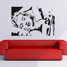 Marilyn Monroe Wall Decals Mirror Bedroom Set Themed Living Room Marilyn Monroe Living Room Decor