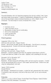 Example Bartender Resume Gorgeous Bartender Resume Examples Bartender Example Resume Template Best
