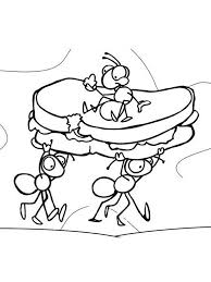 Small Picture ant coloring pages Click to Print Ants with Sandwich Coloring